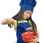 girl with cooking bowl