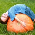 pumpkin and boy